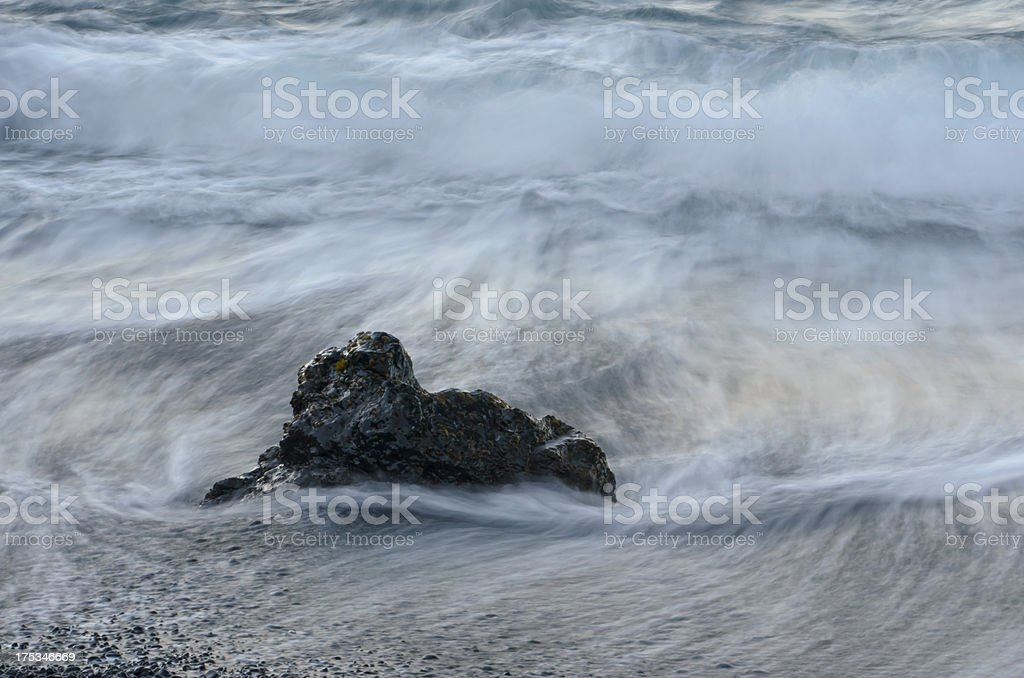 Evening Waves royalty-free stock photo