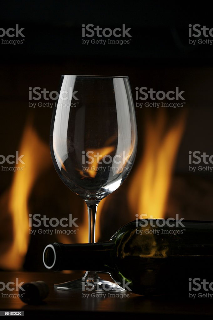 밤입니다 와인 royalty-free 스톡 사진