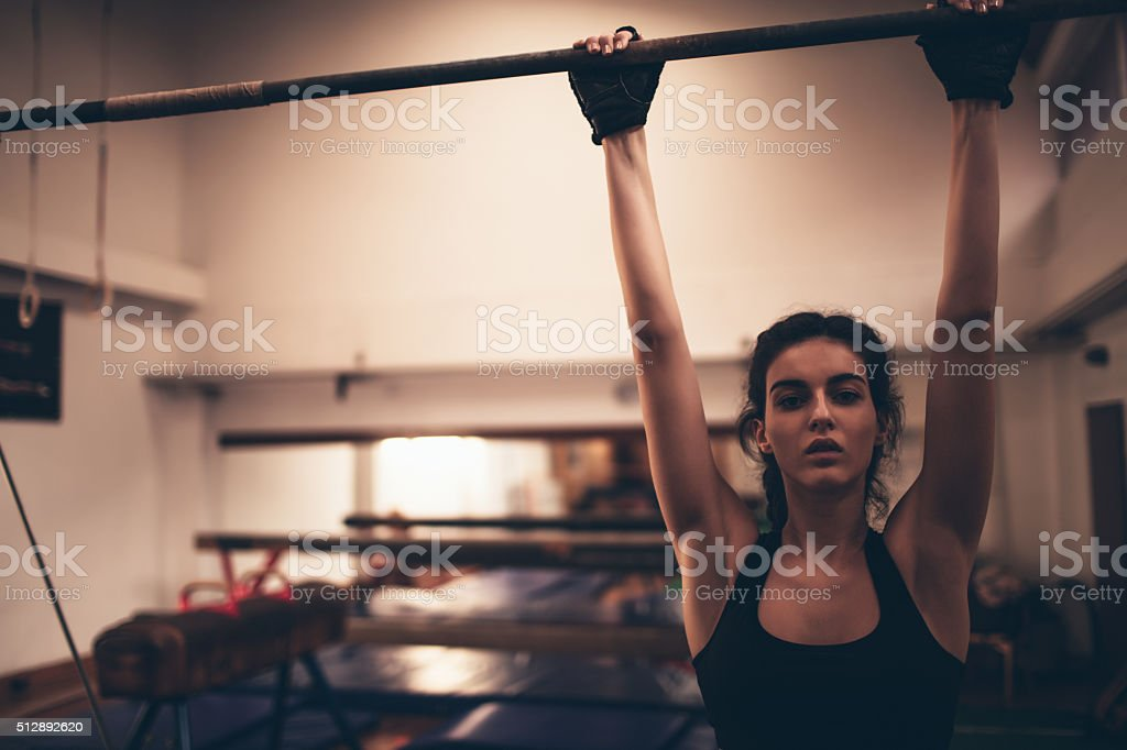 Evening workout stock photo