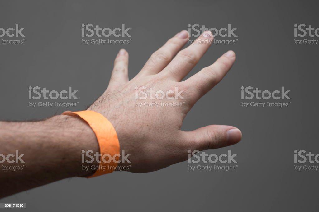 Event Hospital Wristband Bracelet stock photo