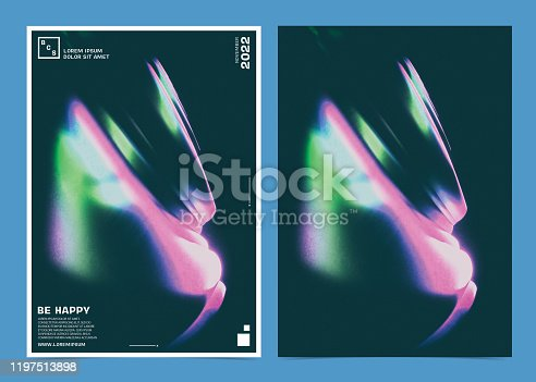 1197513976istockphoto Event Poster template with colorful abstract design 1197513898