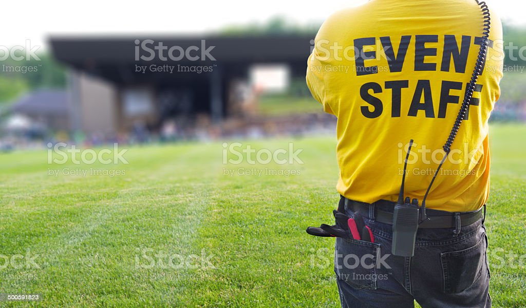 Event Staff for concert security stock photo