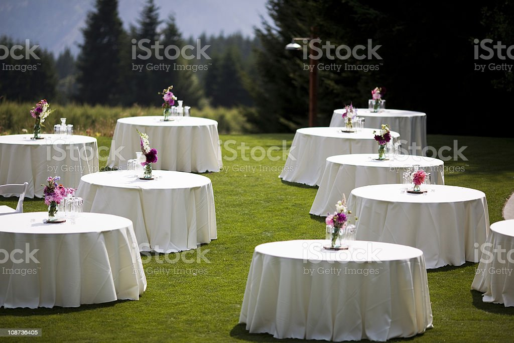Event Tables stock photo