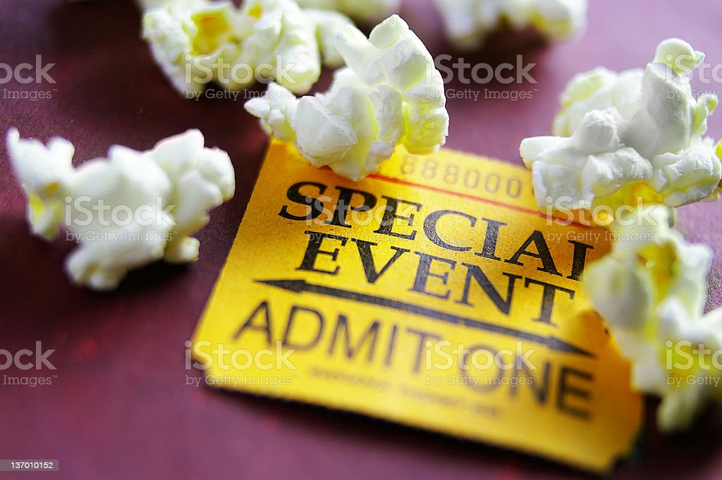 event ticket royalty-free stock photo