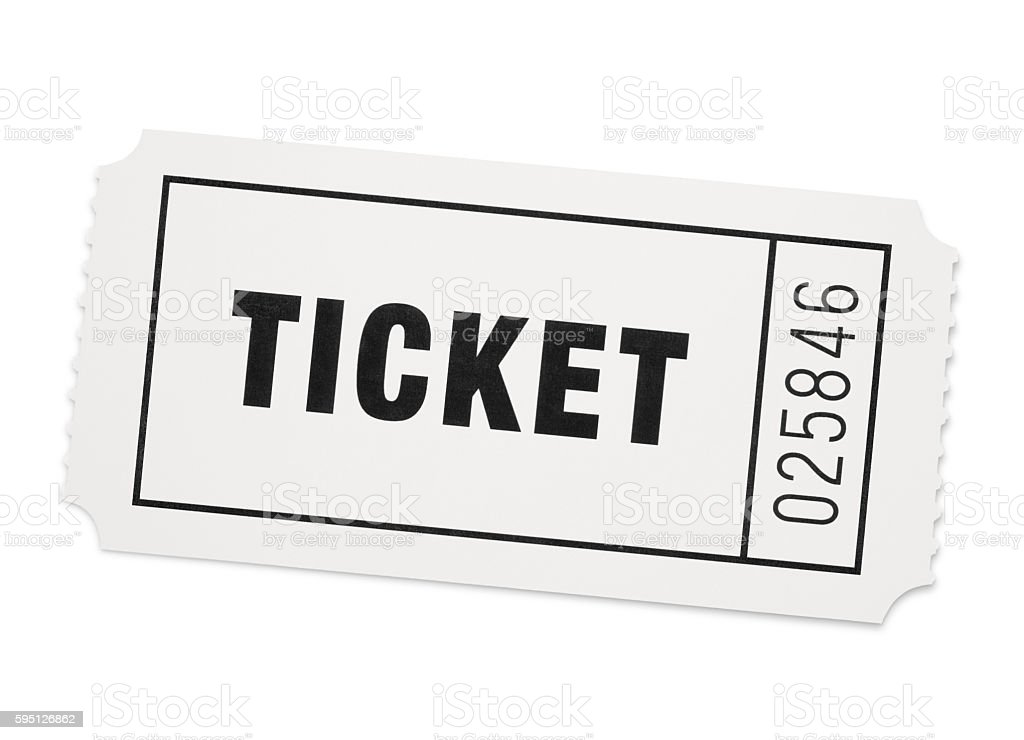 Event Ticket (with path) stock photo