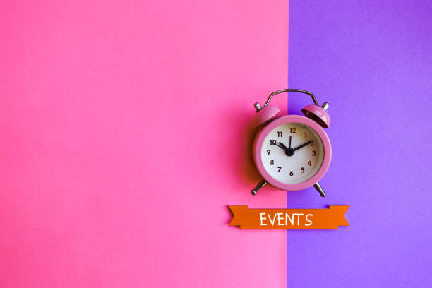 Events. Business and finance concept. stock photo