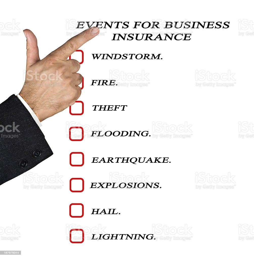 Events for business insurance stock photo