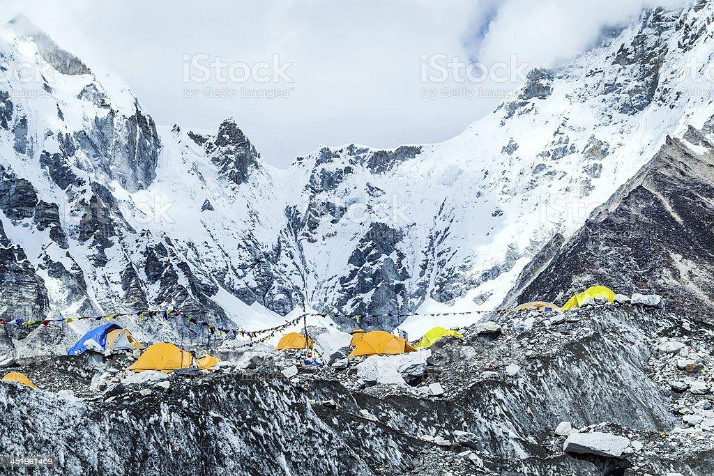 Everest Base Camp mountains landscape stock photo
