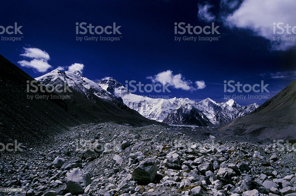 Everest Clouds royalty-free stock photo