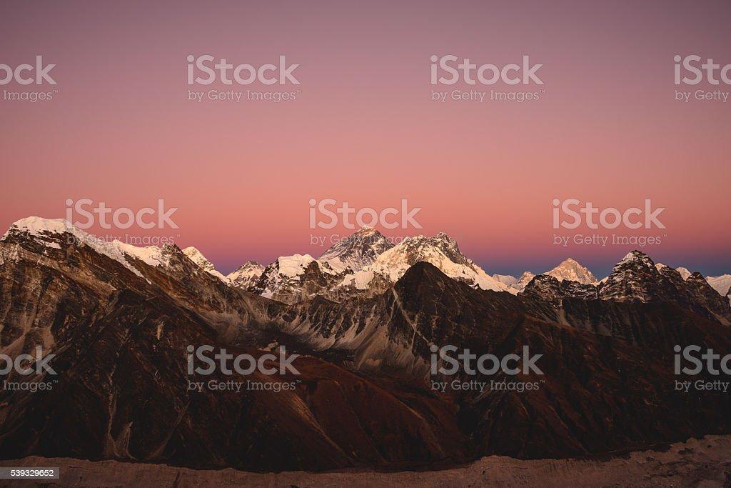 Everest Dusk stock photo