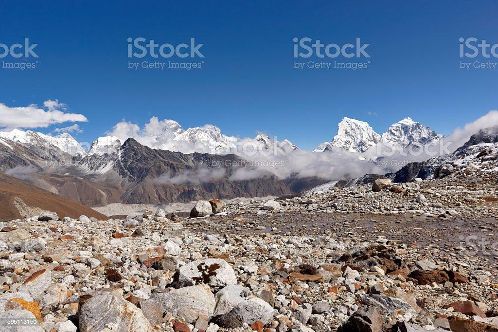Everest. Everest Circuit. Nepal motives. stock photo