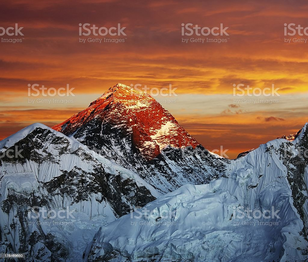 Everest from Kala Patthar - Nepal royalty-free stock photo