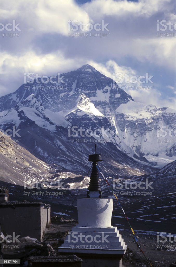 Everest in winter royalty-free stock photo
