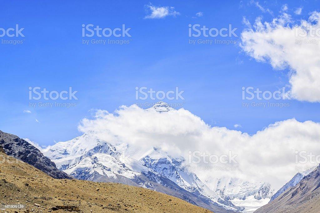 Everest mountain stock photo