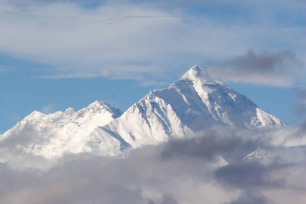 Everest Mountain , Tibetan Side. stock photo