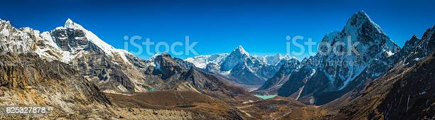 Photo of Everest National Park high altitude Himalayas mountain peaks panorama Nepal