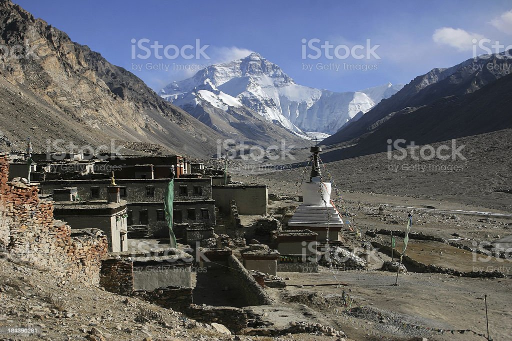 Everest North Face stock photo