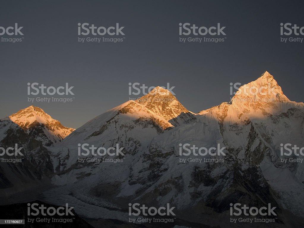 Everest Sunset royalty-free stock photo