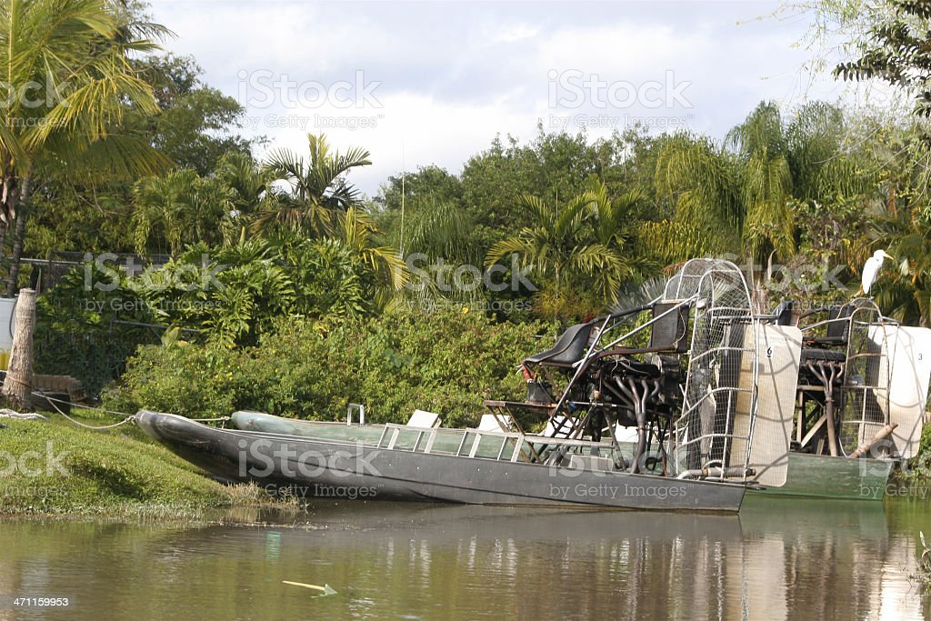 Everglades Air Boat stock photo