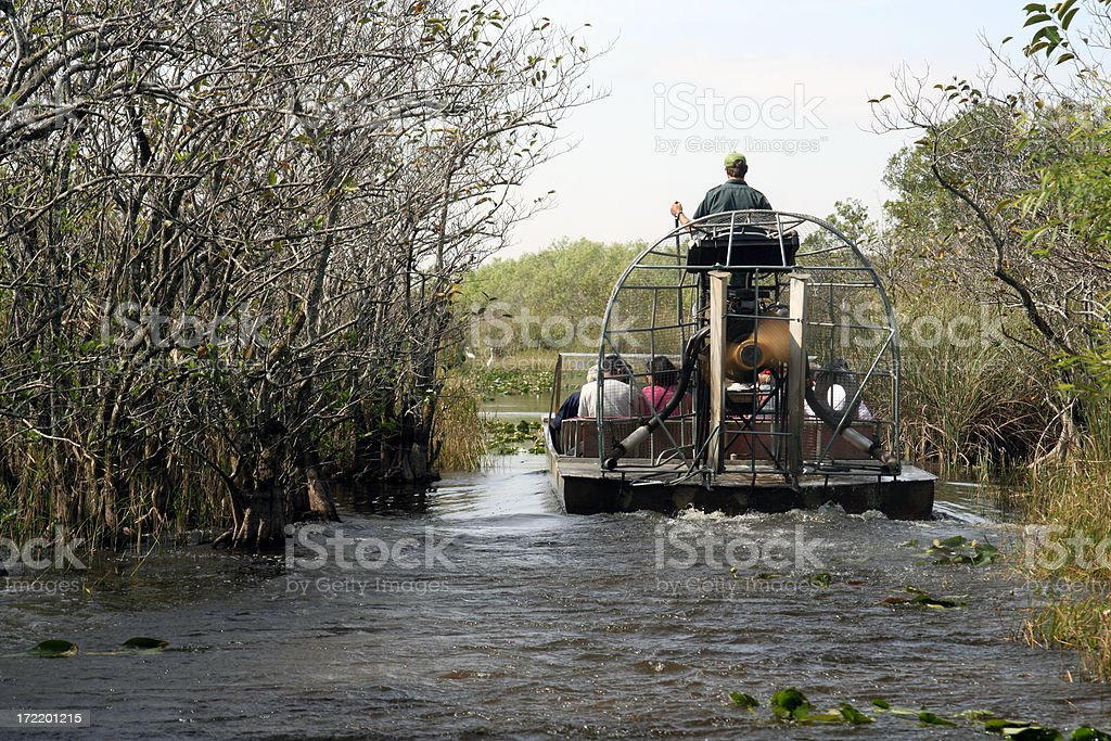 Everglades Airboat stock photo