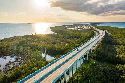 Everglades National Park At Sunset Florida Usa Stock Photo - Download Image Now