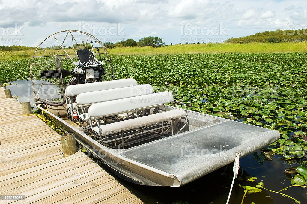 Everglades Swamp Motorboat stock photo