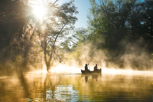 Everglades National Park - canoeing in mist