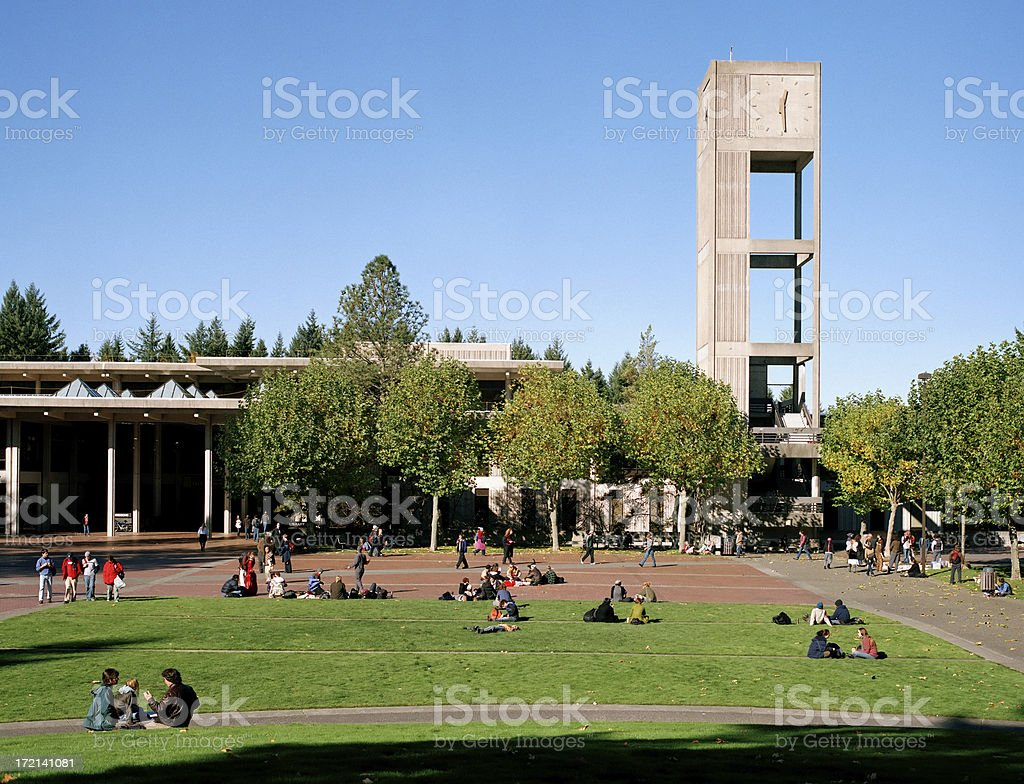 Evergreen State College royalty-free stock photo