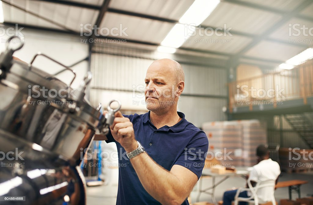 Every batch is a masterpiece stock photo