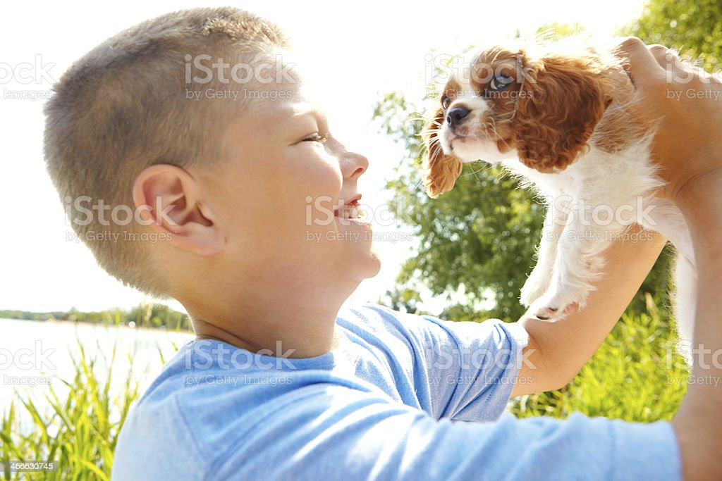 Every child needs an animal companion royalty-free stock photo