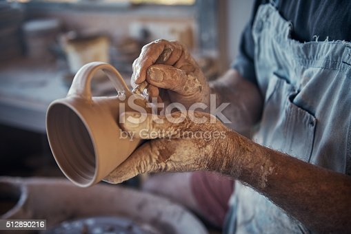 istock Every cup he makes is unique 512890216