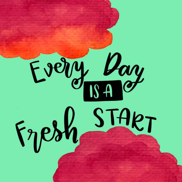 every day is a fresh start handwriting message - keine drama zitate stock-fotos und bilder