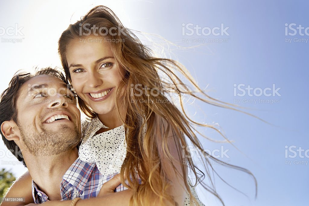 Every day is sunny when you're in love! stock photo