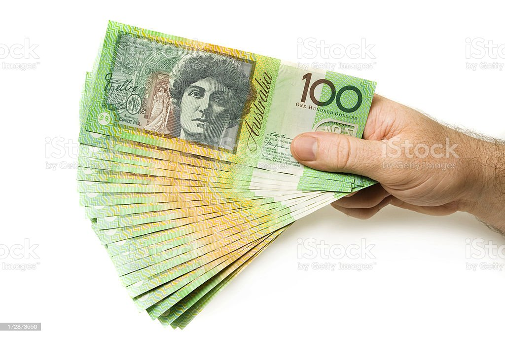 Every Dollar Counts stock photo
