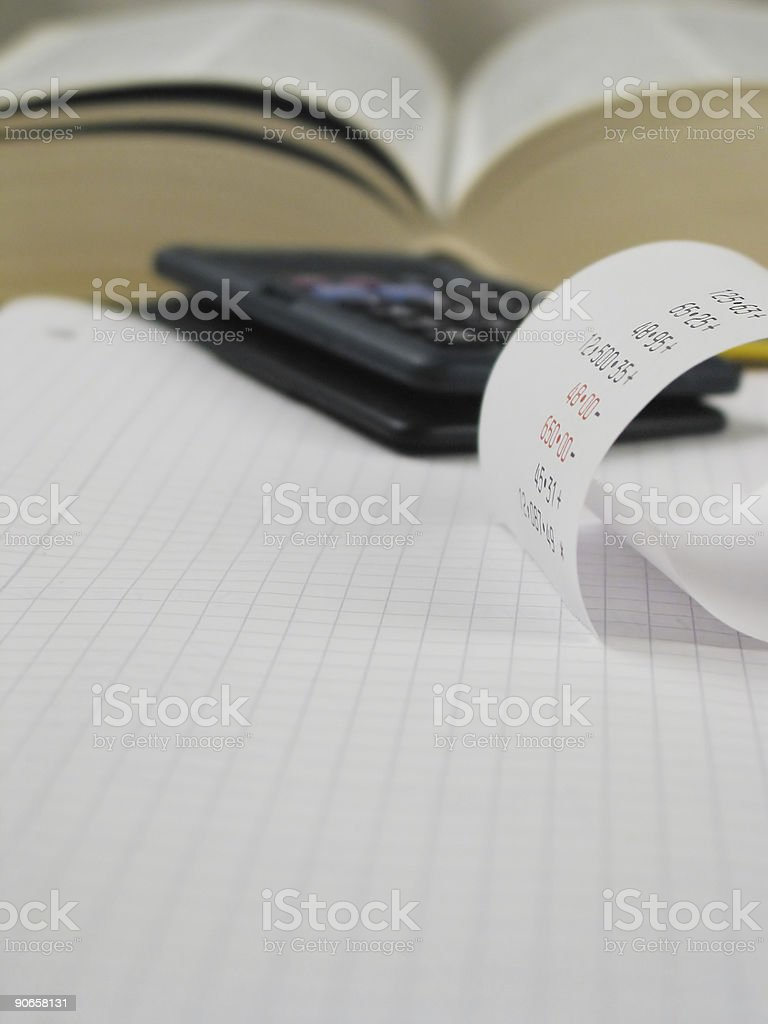 Every end of the month... same issue! royalty-free stock photo