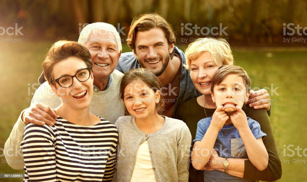 Every family has a funny one stock photo