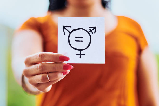 """すべての性別は平等に扱われるべきである - """"gender fluid"""" ストックフォトと画像"""