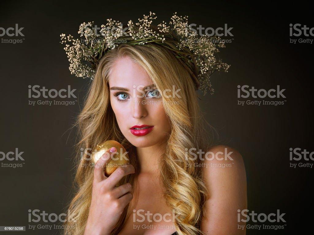 Every goddess deserves gold stock photo