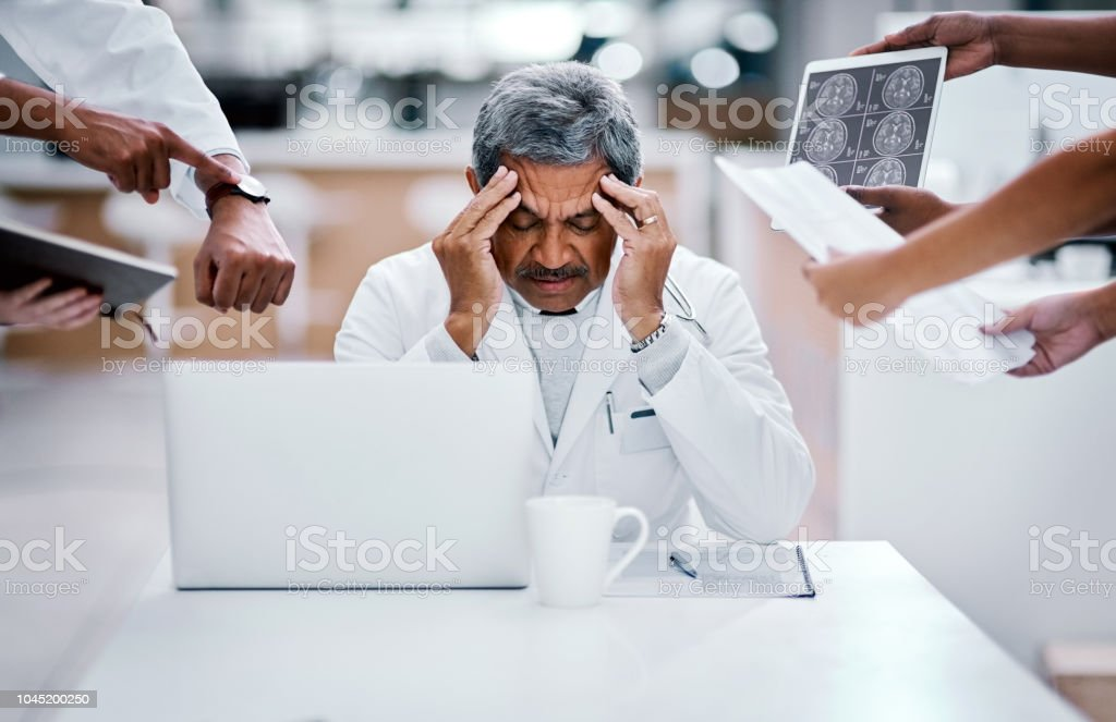 Every job can lead to burnout stock photo