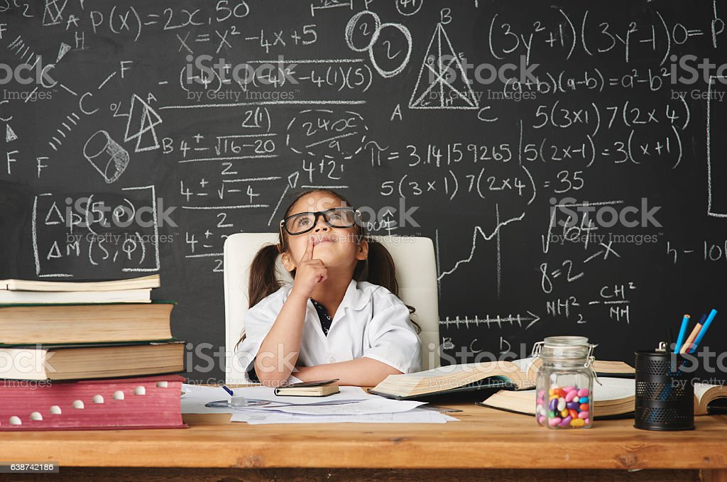 Every kid is a genius at something stock photo