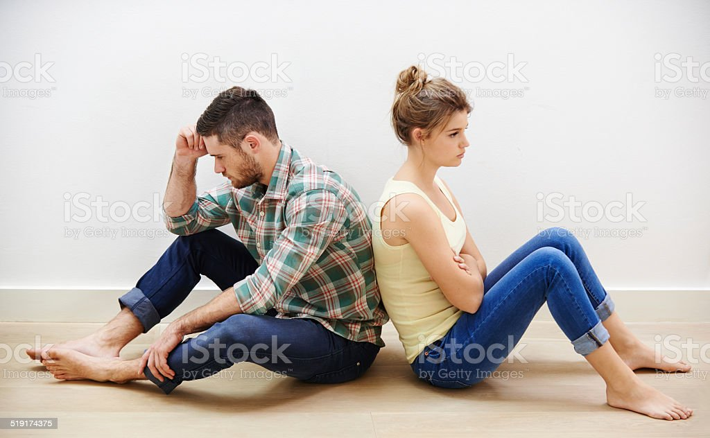 Every marriage has its bad days stock photo