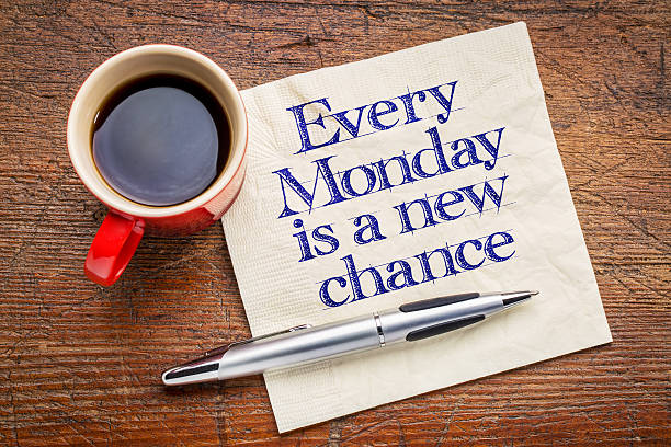 every monday is a new chance - monday motivation stock photos and pictures