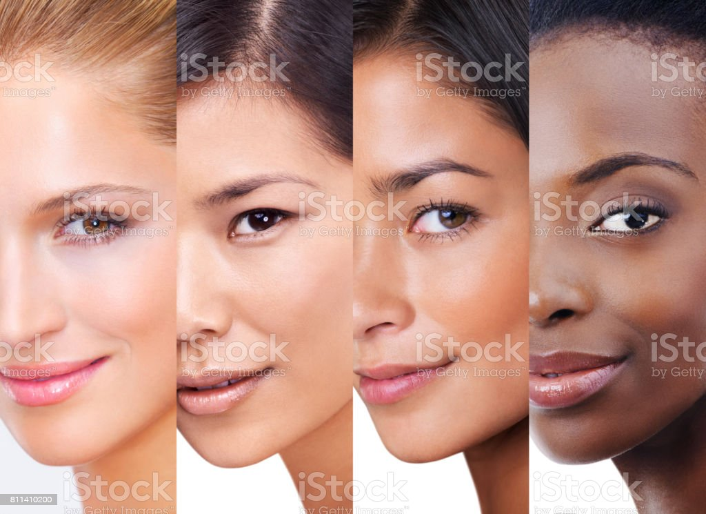 Every shade of beauty stock photo