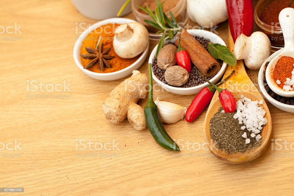 Every spice imaginable stock photo