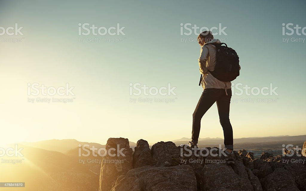 Every step was worth it stock photo