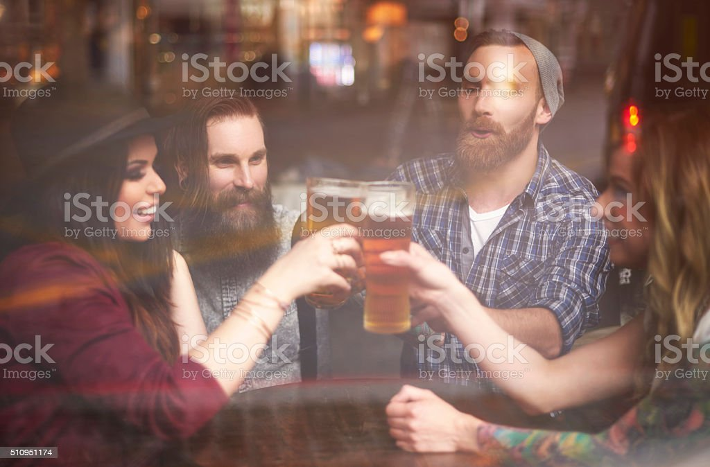 Everybody needs to relax after work stock photo