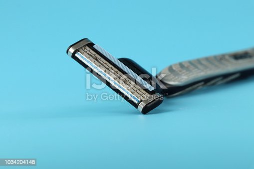 istock A everyday using tool in bathroom for man named razor blade. 1034204148