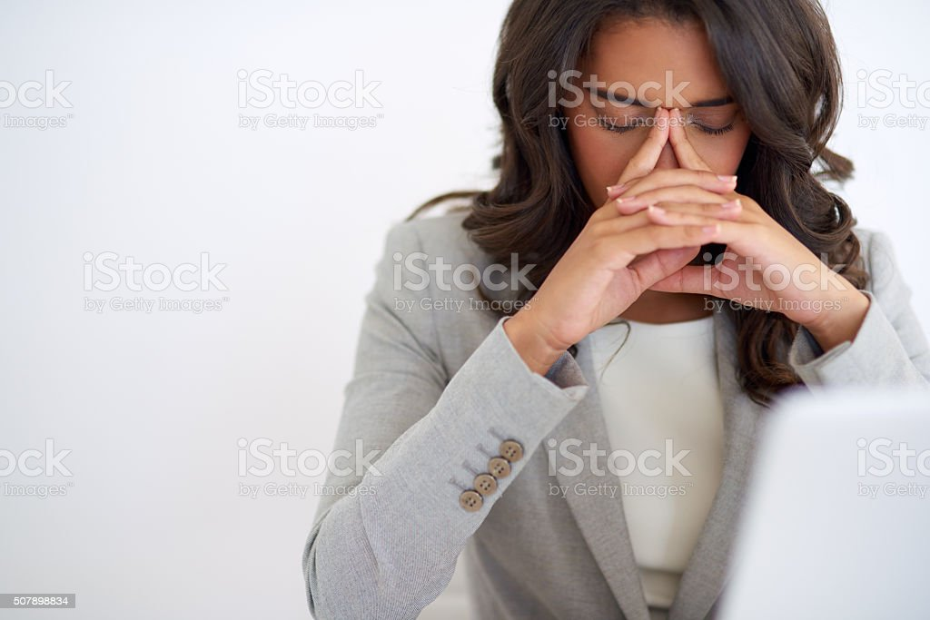 Everyone has a bad day every once in a while stock photo