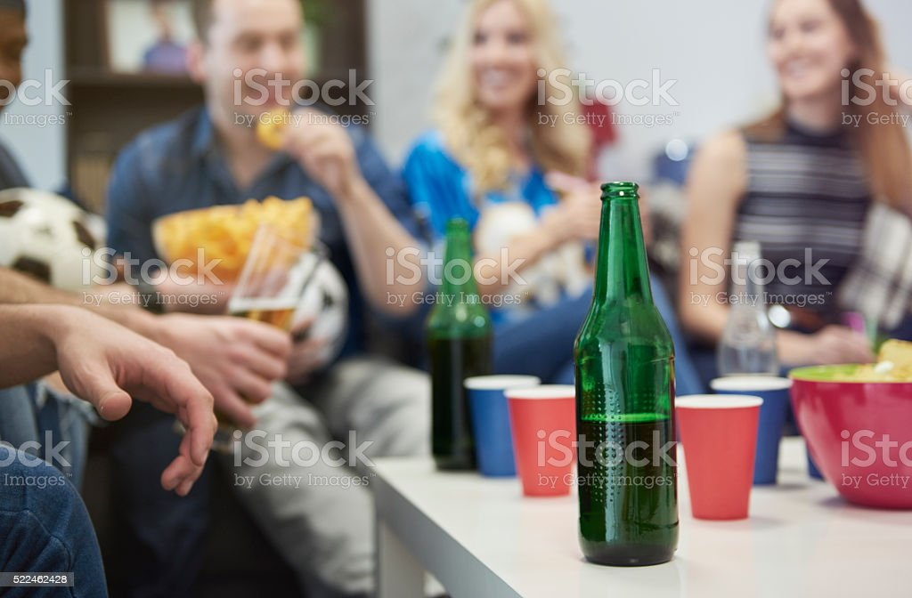 Everyone has a great time together stock photo