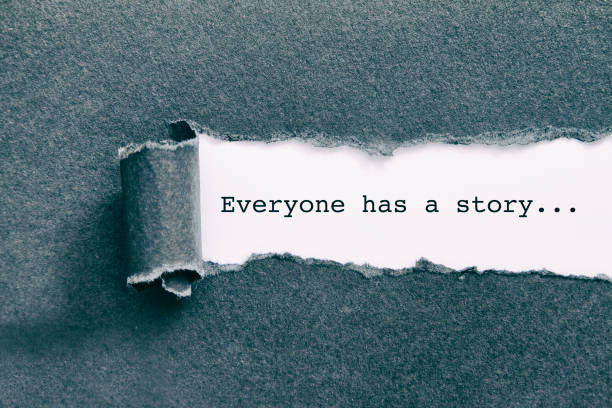 Everyone has a story. - foto stock